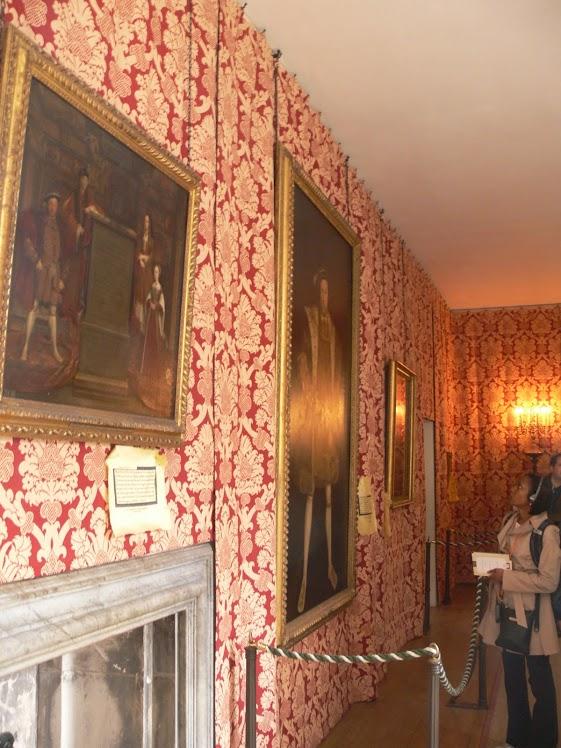 Artwork of Henry VIII, Hampton Court Palace, England