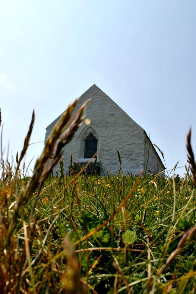 St. Cwyfan's Church-in-the-Sea outside of the village of Aberffraw