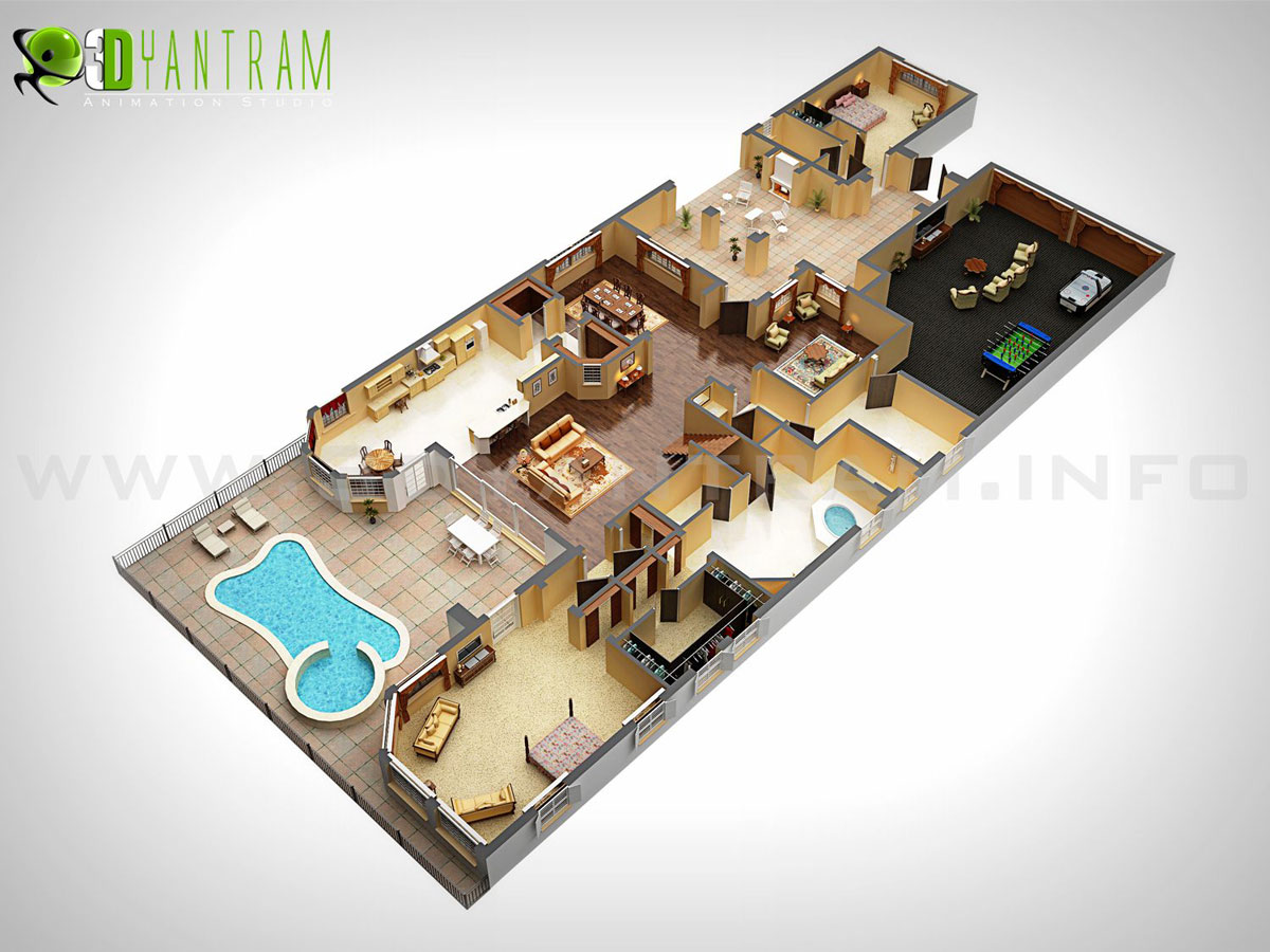 Holiday Homes 3D Floor Plan Design