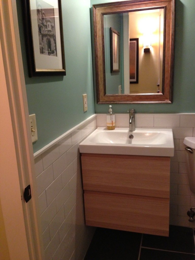 Powder room redo revealed  found not lost blog