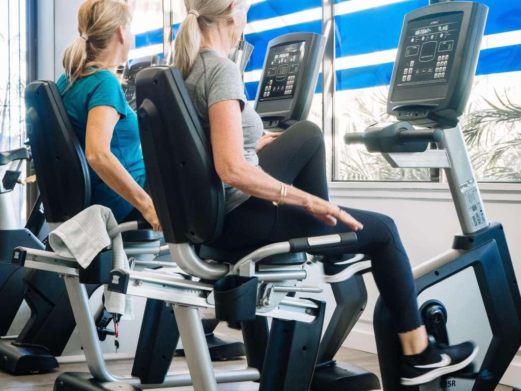 Exercise bikes at Foundry Fitness