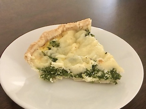 A prepared piecrust meets frozen spinach and a handful of refrigerator staples in this speedy quiche that's brimming with flavor. For an easy dinner that satisfies all year round, pair the quiche with a tossed salad or cup of soup. Makes a lovely brunch, too.