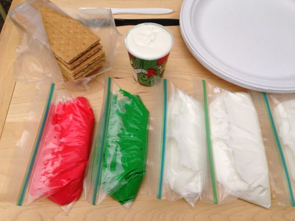 Easy-to-make royal icing can be colored as desired.