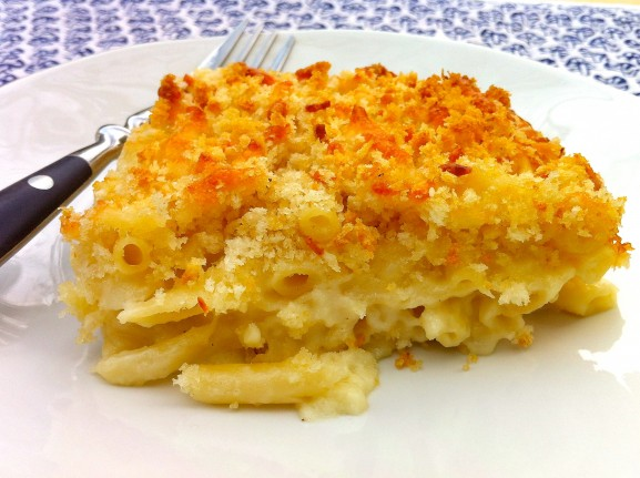 Classic Crispy Top Macaroni and Cheese - all-time favorite recipe with a spot-on gluten-free adaption linked