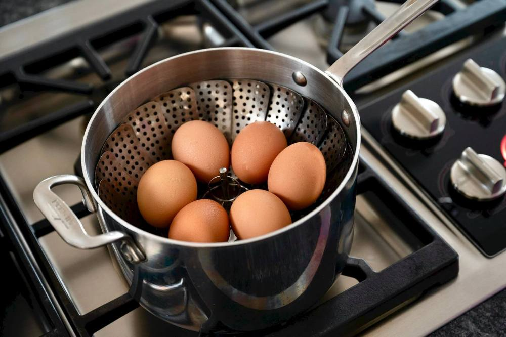 "You don't need an Instant Pot for perfectly cooked eggs (with shells that slip right off!) thanks to this simple technique. ""Easy Peel Eggs"" can be prepared with soft, medium, or hard yolks and will store in the fridge for a week."