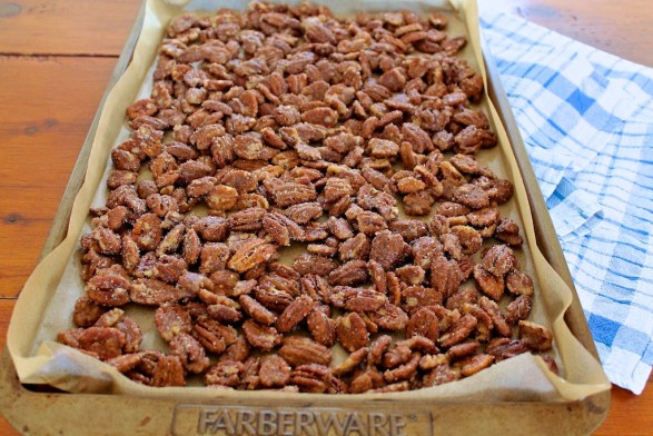 Spiced Pecans -- a recipe that's been passed down through the family....perfect on salads and by the handful