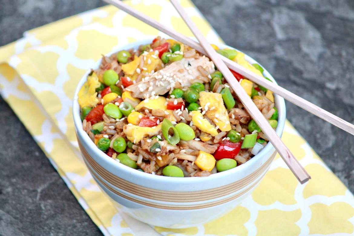 The flavor of homemade fried rice will rival your favorite takeout version and be healthier, too. Leftover rice or chicken makes prep fast.