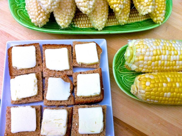 Best trick for buttering corn on the cob -- mess-free and no waiting!
