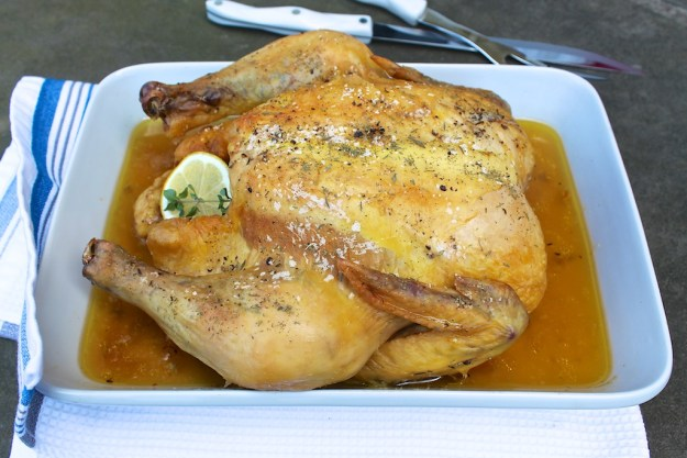 Slow Roasted Whole Chicken-a virtually foolproof method for tender, juicy, never-dry chicken every single time