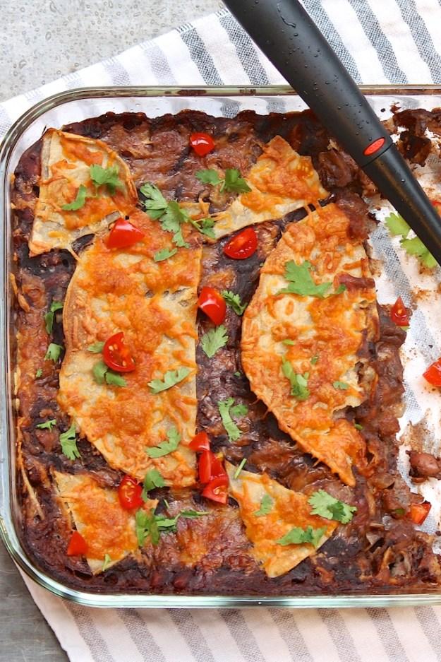 Easy Cheesy Enchilada Casserole