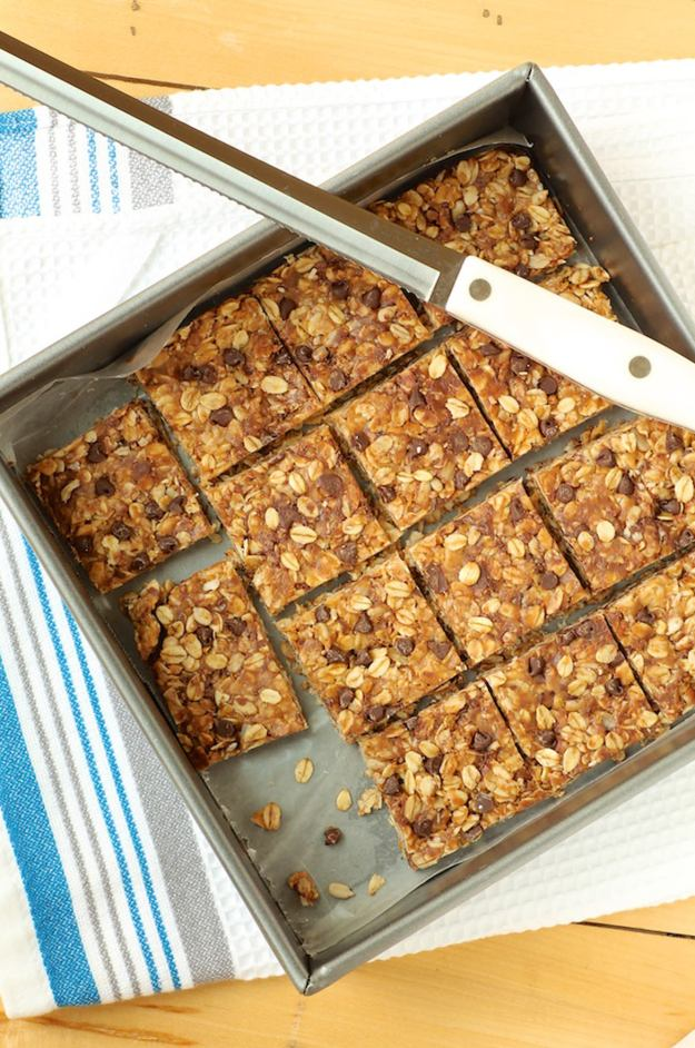 "Healthy, easy and super delicious... with recipe tips on what provides the most ""stick"" in a no-bake granola bar"