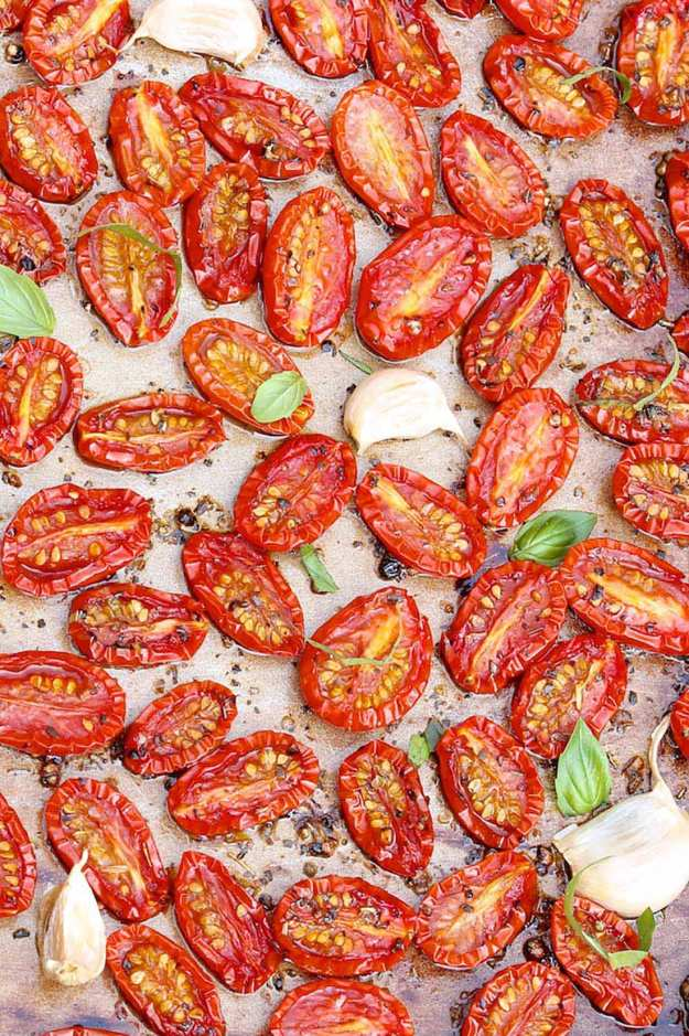 This fabulously easy recipe concentrates the flavor and adds a caramelized sweetness...even when using off-season tomatoes!