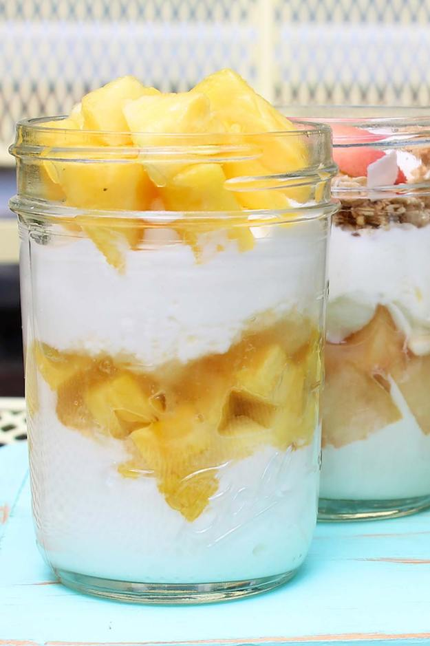 A DIY alternative to your favorite fruit-on-the-bottom yogurt cups = more fruit, less sugar and fresher flavor!