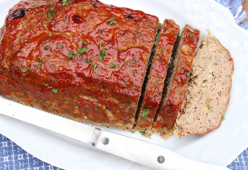 Family Favorite Glazed Meatloaf recipe offers prep ahead convenience and tips for a perfectly shaped loaf