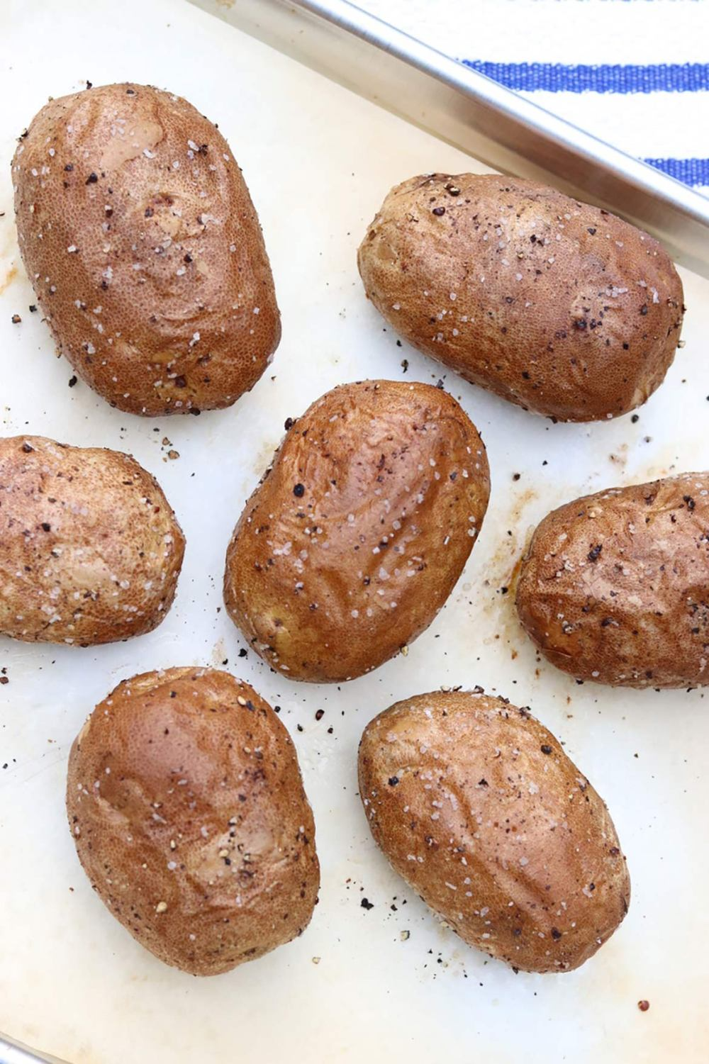 This basic technique guarantees potatoes with crisp, flavorful skins and light, fluffy insides each and every time.