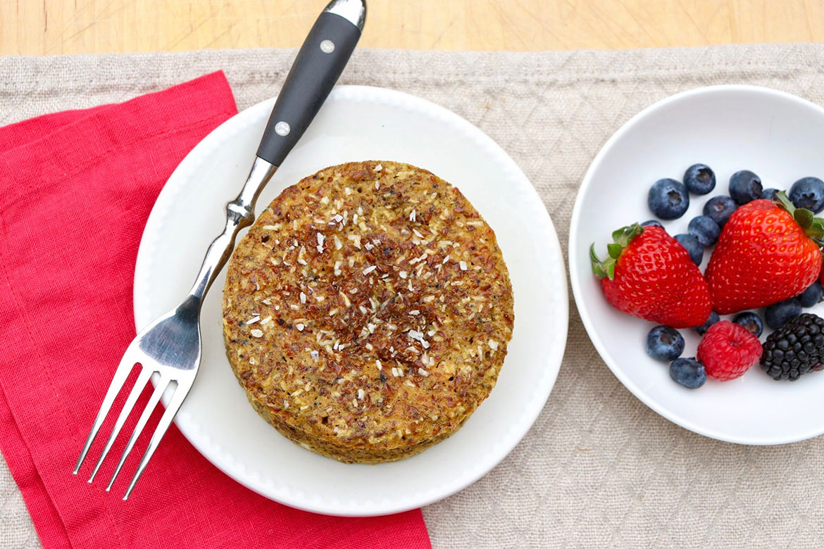 Bursting with health appeal, flavor, and convenience, Maple Flax Breakfast Cakes are a twist on a reader-favorite mug muffin—and a personal go-to breakfast!