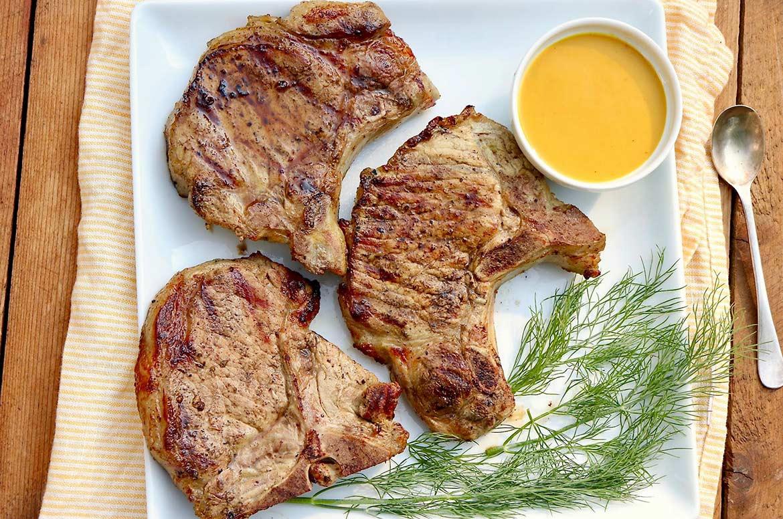 Pickle Brine Pork Chops or Chicken with Liquid Gold Sauce