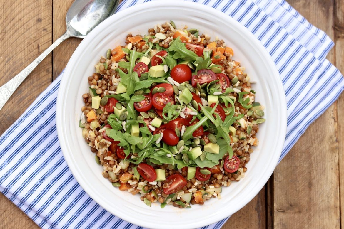 Lentil Salad for all Seasons – Light yet filling and endlessly adaptable, this protein-rich lentil salad will delight plant-based eaters and meat lovers alike!