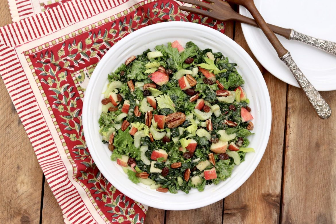 Whole Foods' Kale Waldorf Salad -This mayo-free variation of the classic Waldorf salad introduces kale to the mix and incorporates apples and nuts into the dressing for a creamy consistency with natural sweetness. My recipe includes the original version along with some adaptations I have come to enjoy.