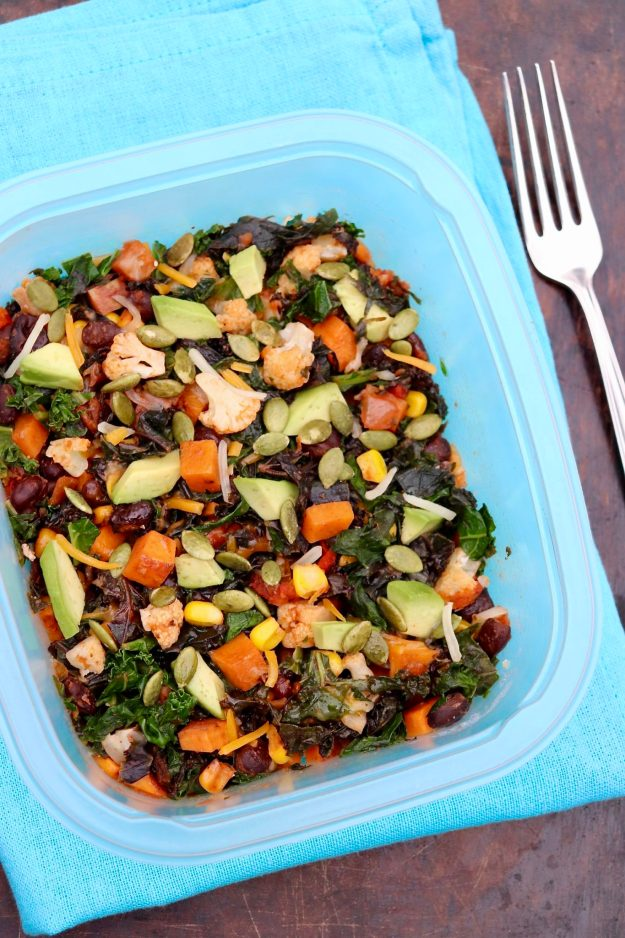 Southwestern Nourish Bowls-Brimming with colorful vegetables and plant-based protein, these nutrient-dense bowls are filling, adaptable and easy to prep for the week ahead.(Great portable worklunch, too!)