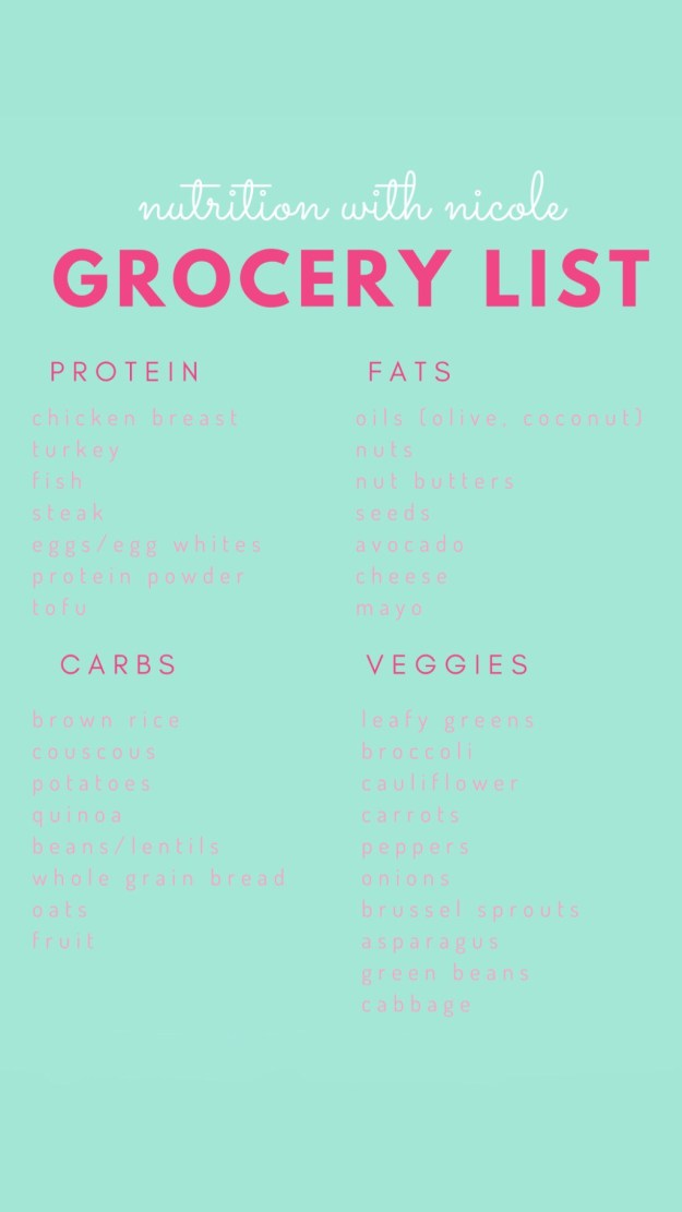 Healthy Foods Grocery List