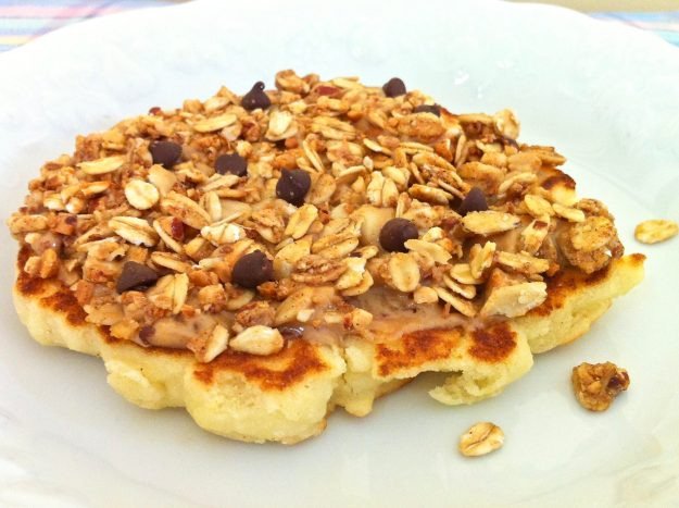 Peanut Butter Granola-Topped Pancake