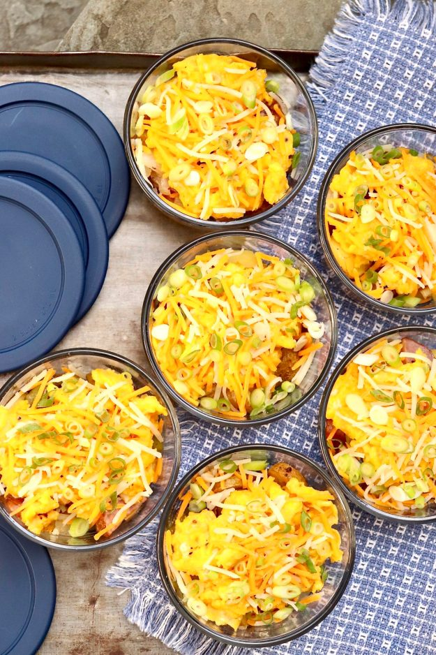 MAKE-AHEAD SAVORY BREAKFAST BOWLS- a reasonable amount of meal-prep is rewarded with wholesome, grab-and-go meals for the week, which can customized and topped to taste. They're equally satisfying as a packable lunch or easy dinner, too.