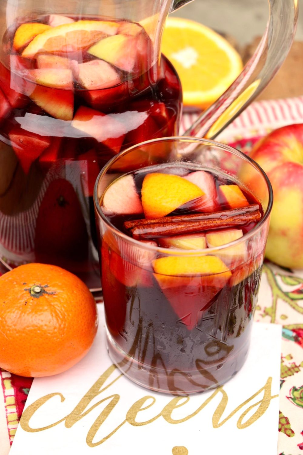 Holiday Sangria - perfect for Thanksgiving, Friendsgiving and all of your holiday celebrations, this a make-ahead cocktail is a festive crowd-pleaser