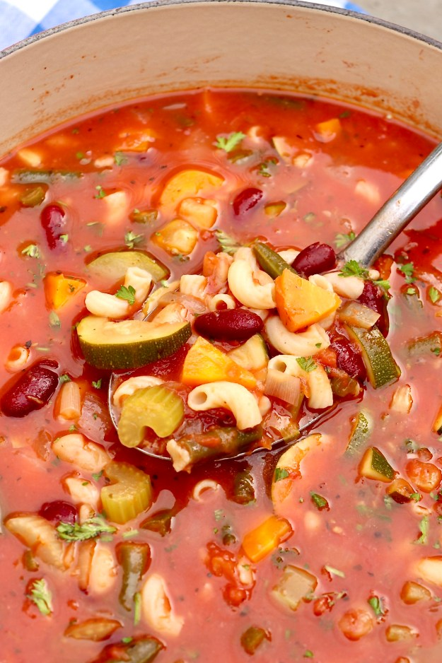 An abundance of colorful veggies is the basis for this classic, comforting soup, which cooks in one pot for a go-to meal on a busy night. The flexible recipe is protein-rich and plant-based, but a variety of meats may be added for those who enjoy.