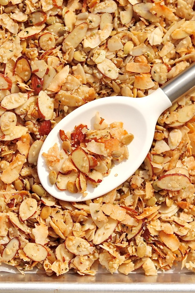 Grain-free granola offers the perfect balance of chewy and crunchy with appealing sweetness and spice. (Plus it's not sticky like many Paleo granolas!)