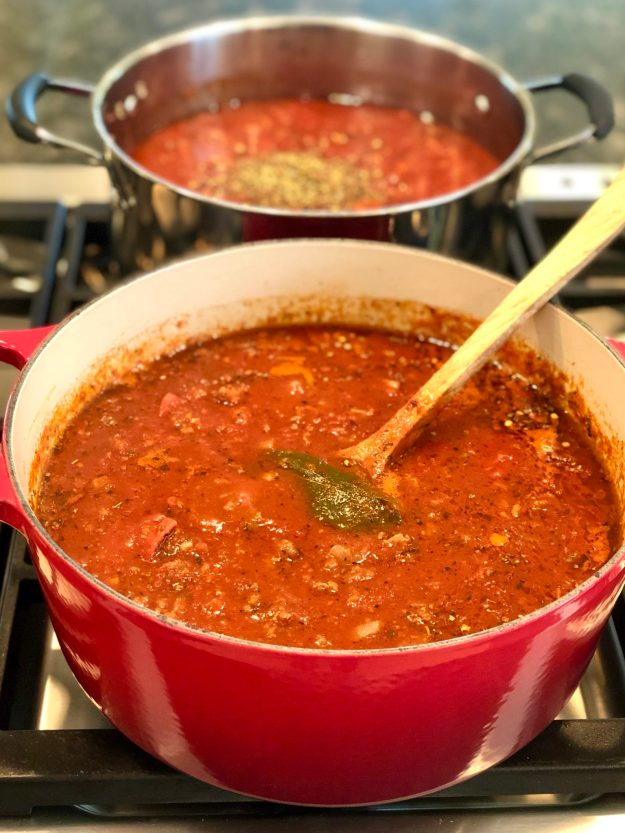 Comfort food at its best, this meaty sauce starts with a jar of your favorite marinara and can be customized in a variety of ways. Easy to make a big batch and freezes well!