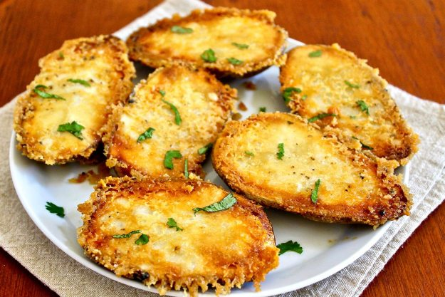 A golden crust that complements the creamy potatoes is the magic that happens when a clever baking method meets a little bit of olive oil and Parmesan cheese.