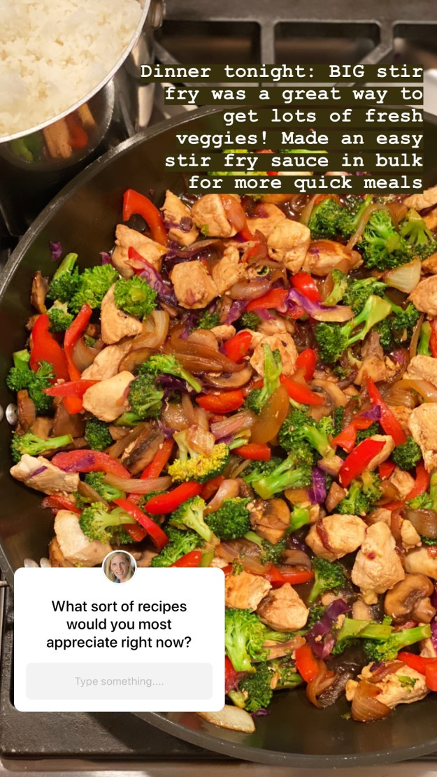 If you are serving the stir-fry over rice, you may wish to use more sauce to have plenty of extra to flavor the rice. Feel free to eyeball according to preference.