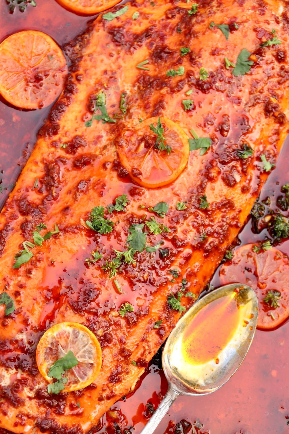 One easy-to-find condiment is the key to this super simple, heart-healthy meal that's sure to wow family and friends. The low oven temp virtually guarantees tender, perfectly cooked fish every time and won't overheat your kitchen either!