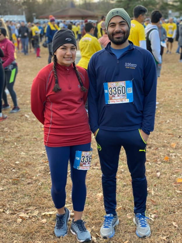 Simran and Aman at a 2019 Turkey Chase