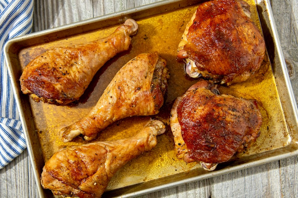 A simple spice rub and one clever trick are the keys to crispy skin and tender, juicy meat that's brimming with flavor. Easy to prep ahead and pop in the oven when ready.
