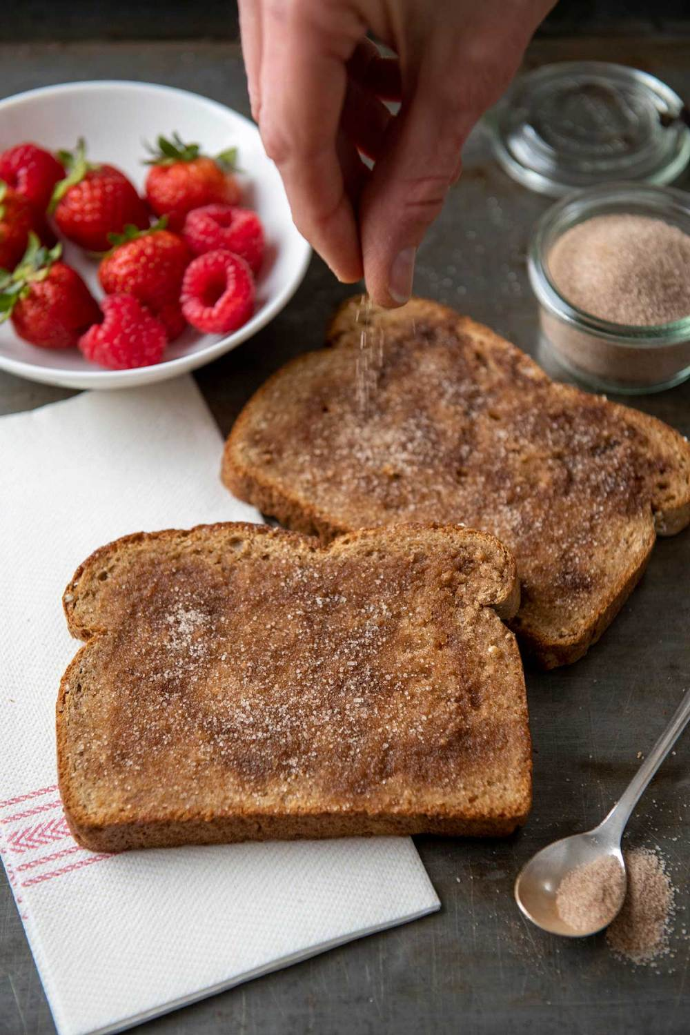 Warm hearts and stomachs with this super simple breakfast that takes mere minutes to make. The perfect balance of cinnamon and sugar (and keeping the mixture on hand to use whenever needed) is the secret to success!
