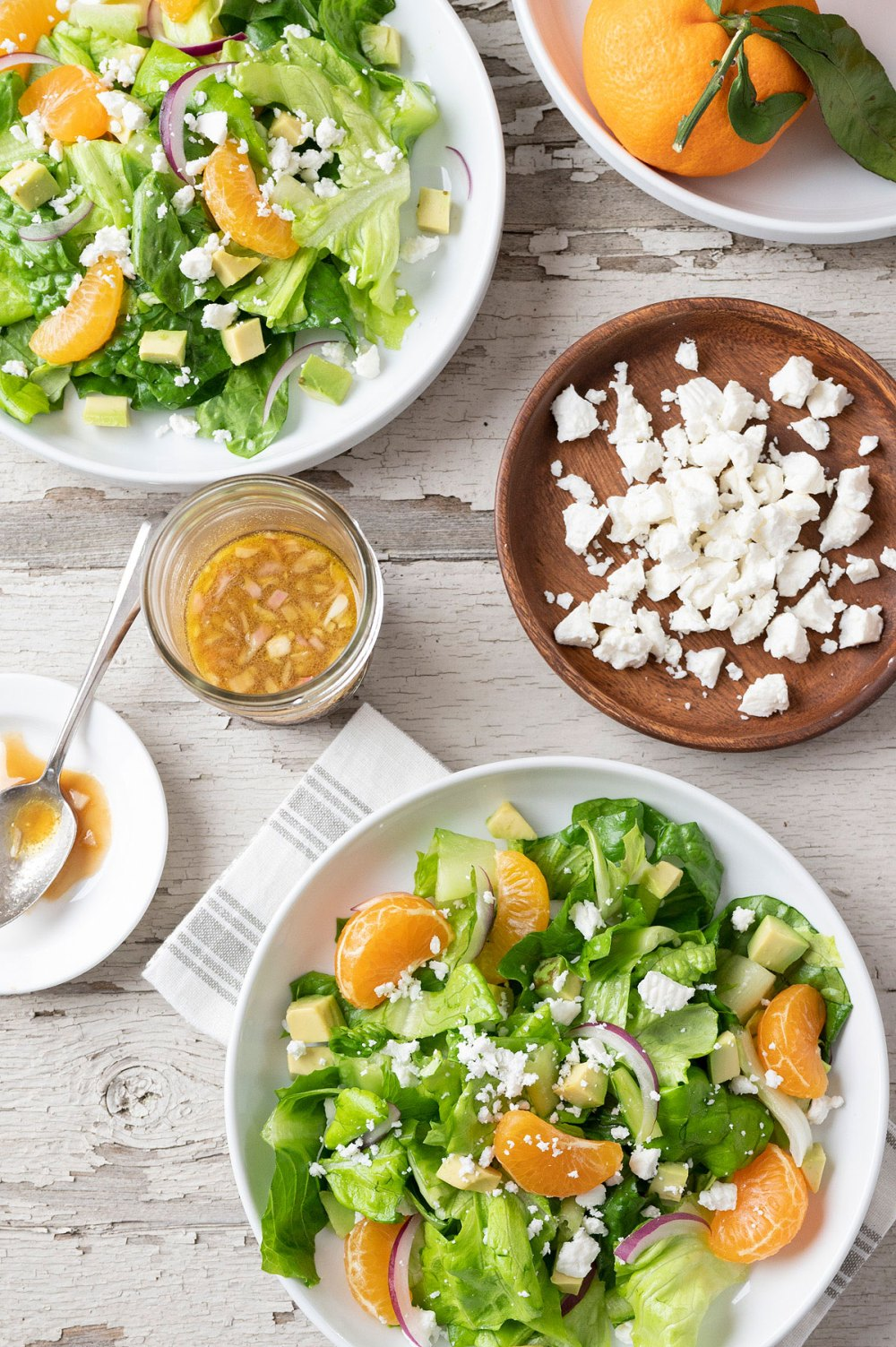 Sweet oranges, buttery avocado, salty feta, and a mix of crisp greens combine with a flavor-packed vinaigrette that is sure to become a favorite!