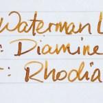 fountain pen ink shading diamine autumn oak