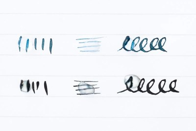 what is fountain pen ink waterproof test wet