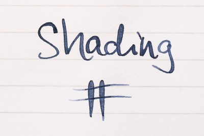 what is fountain pen ink shading