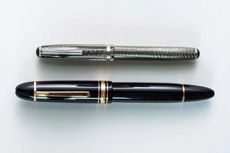 montblanc esterbrook fountain pen size comparison