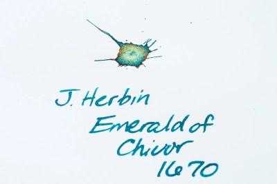 what is sheen j herbin emerald of chivor fountain pen ink