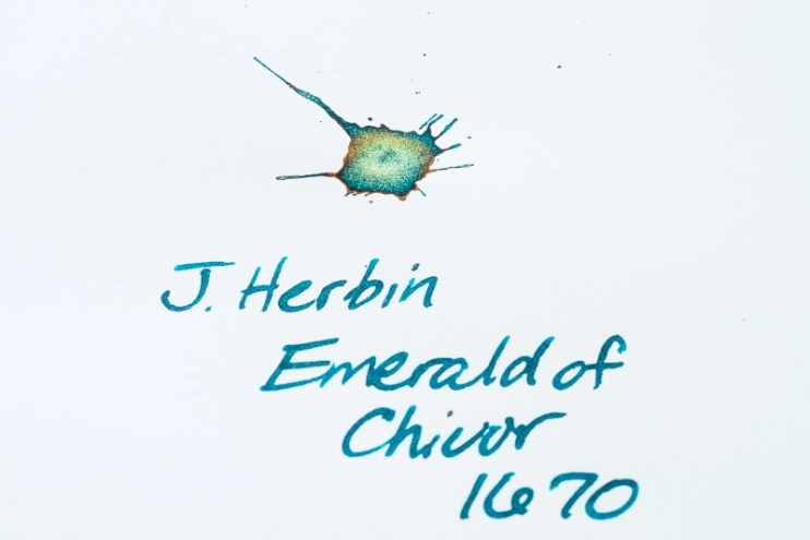what is sheen j herbin emerald of chivor fountain pen ink