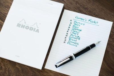 using fountain pens for lists rhodia sailor pro gear