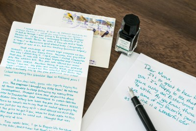 Using Fountain Pens Pen Pal writing a letter
