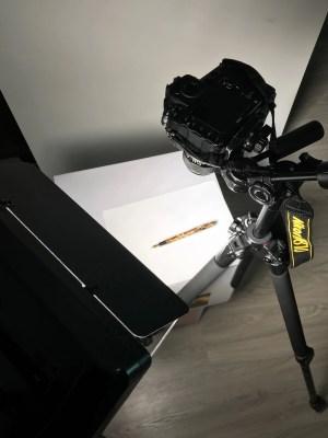 photograph a fountain pen setup