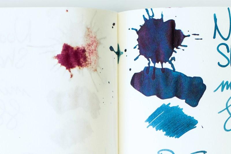 fountain pen ink splat bleed tomoe river