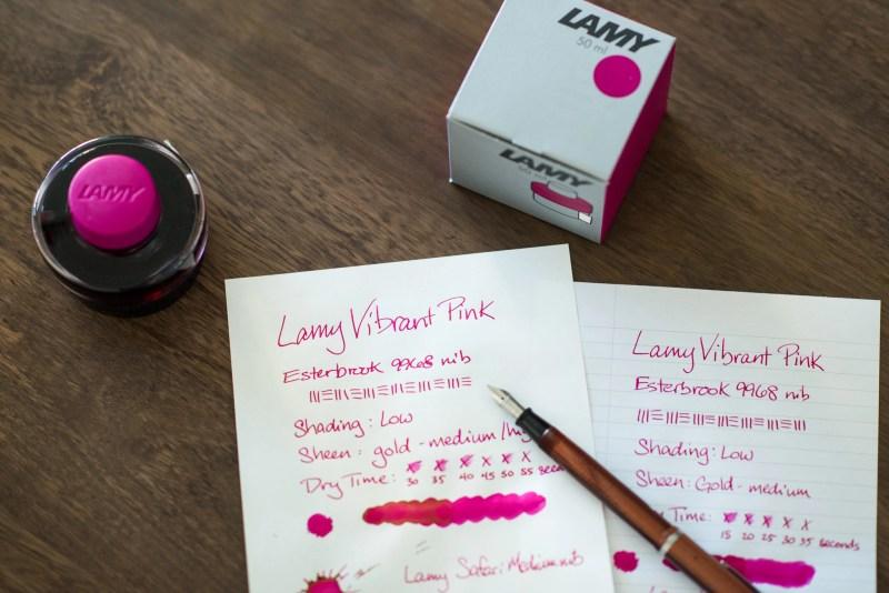 Lamy vibrant pink esterbrook fountain pen