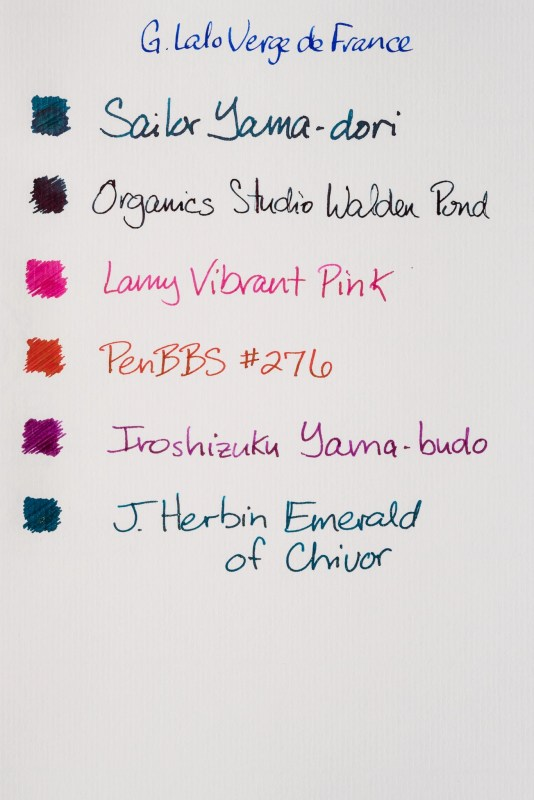 How does paper affect fountain pen ink sheen g lalo